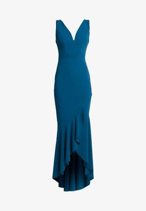 PLUNGE KNECKLINE FRILL FISHTAIL DRESS - Occasion wear - dark teal