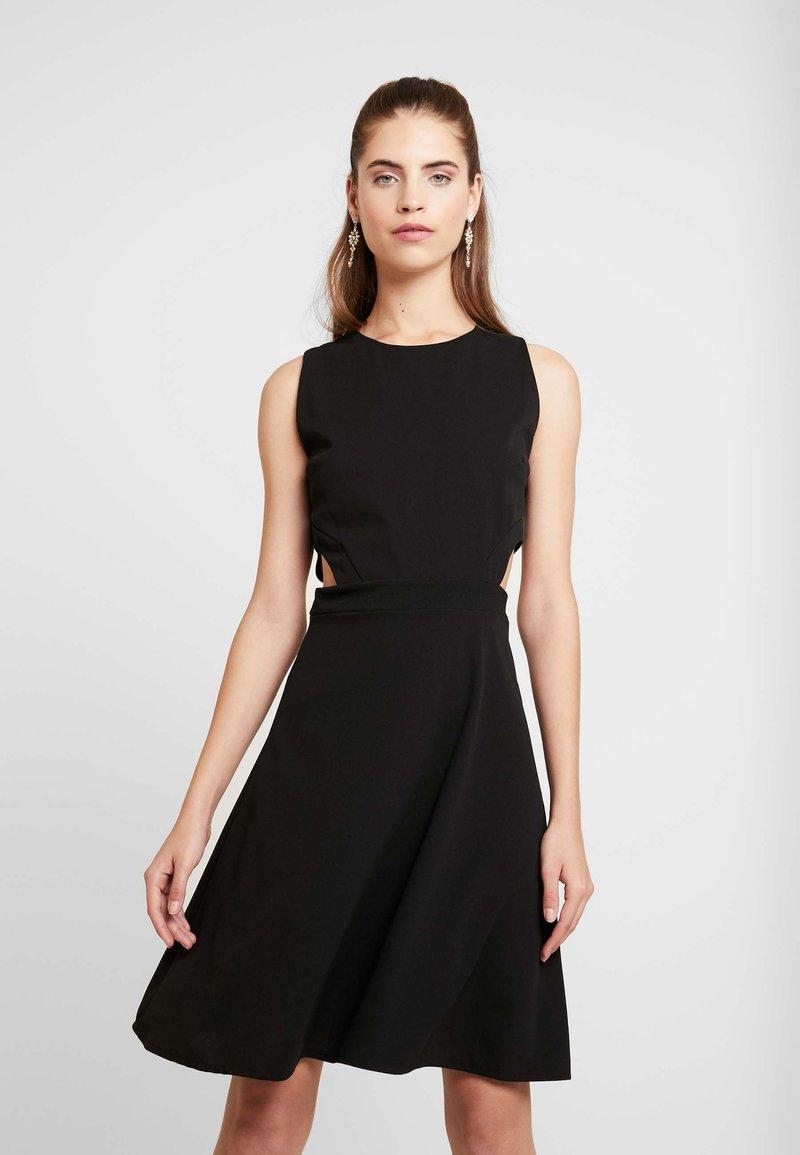 WAL G. - WAIST CUT OUT MIDI DRESS - Vestito elegante - black