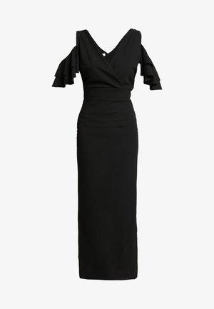 MIDI SHOULDER FRILL DRESS - Robe de soirée - black