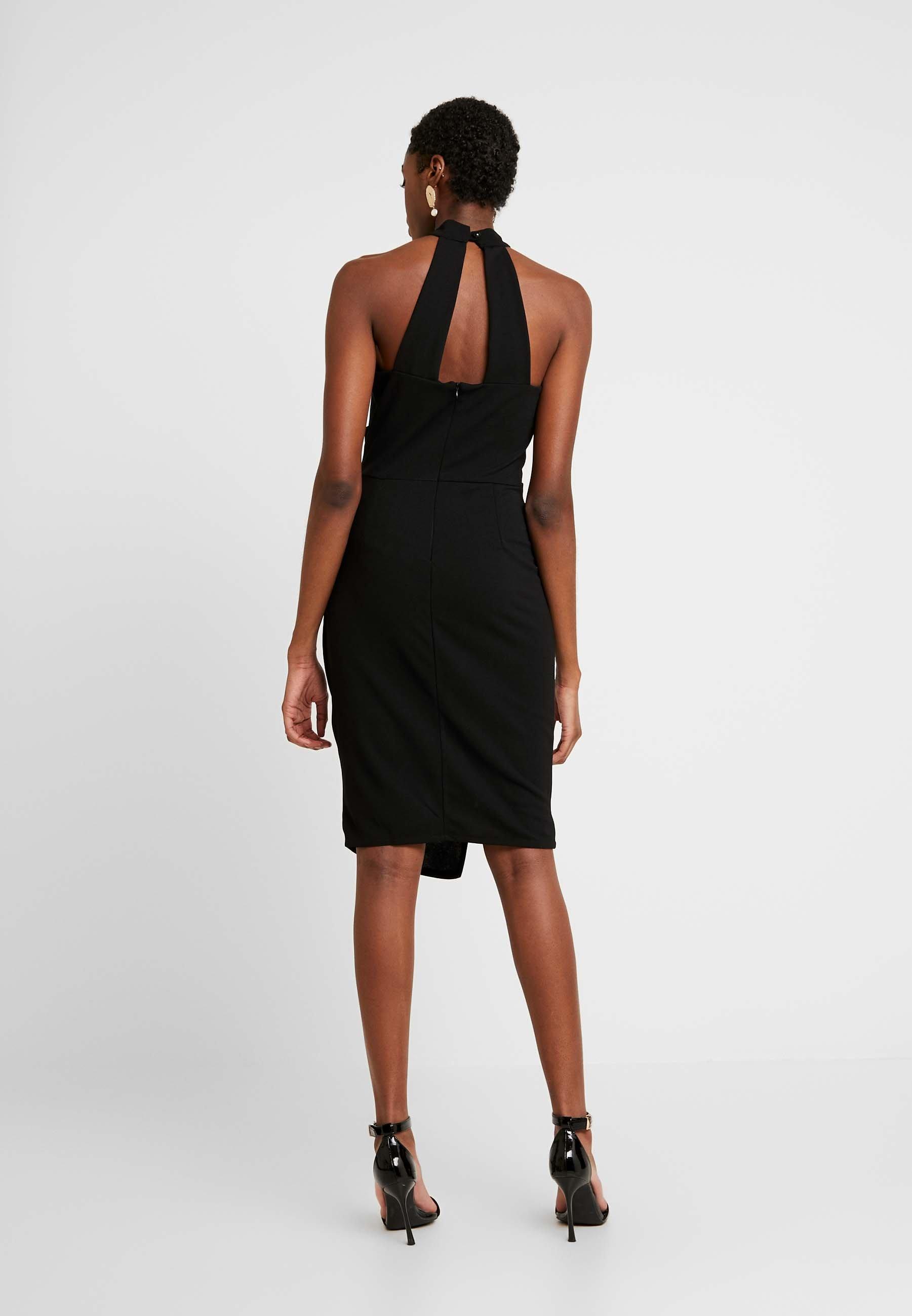 Wal G. Layered Halter Kneck Dress - Vardagsklänning Black