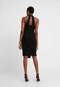 WAL G. - LAYERED HALTER KNECK DRESS - Denní šaty - black - 2