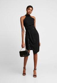 WAL G. - LAYERED HALTER KNECK DRESS - Denní šaty - black - 1