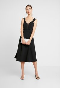 WAL G. - SHOULDER LAYERED MIDI DRESS - Cocktail dress / Party dress - black - 1
