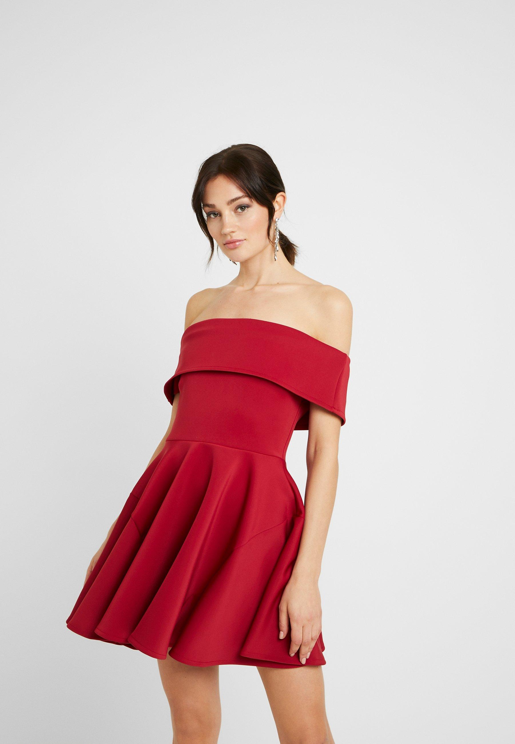 WAL G. BARDO SKATER DRESS - Sukienka koktajlowa - wine
