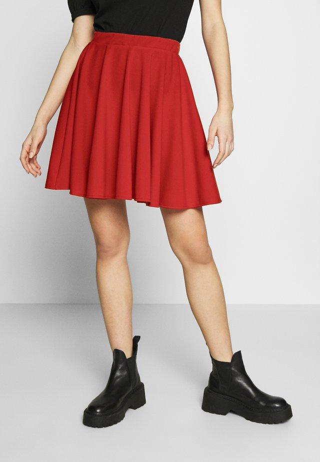 SKATER SKIRT - A-line skirt - red