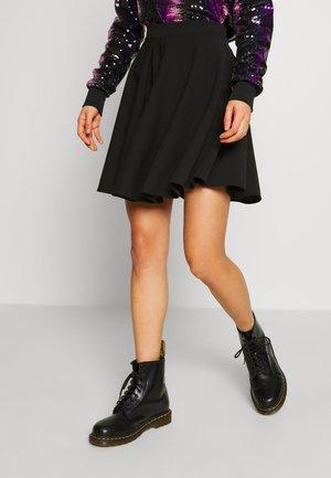 SKATER SKIRT - Áčková sukně - black