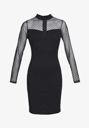LONG SLEEVE DETAILED DRESS - Etui-jurk - black