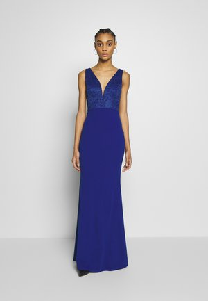 SLEEVLESS VNECK DRESS WITH SIDES - Galajurk - cobalt blue