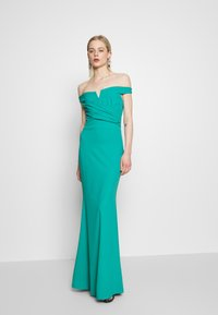 WAL G. - OFF THE SHOULDER DRESS - Galajurk - teal - 1