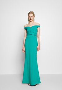 WAL G. - OFF THE SHOULDER DRESS - Galajurk - teal - 0