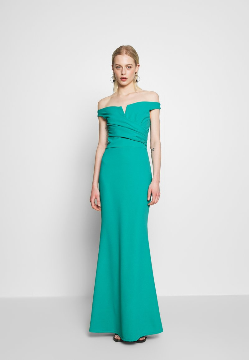 WAL G. - OFF THE SHOULDER DRESS - Galajurk - teal