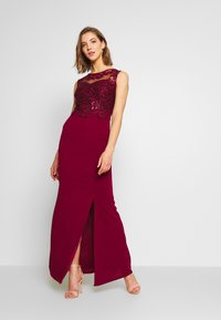 WAL G. - LAYERED MAXI DRESS - Vestido de fiesta - wine - 1