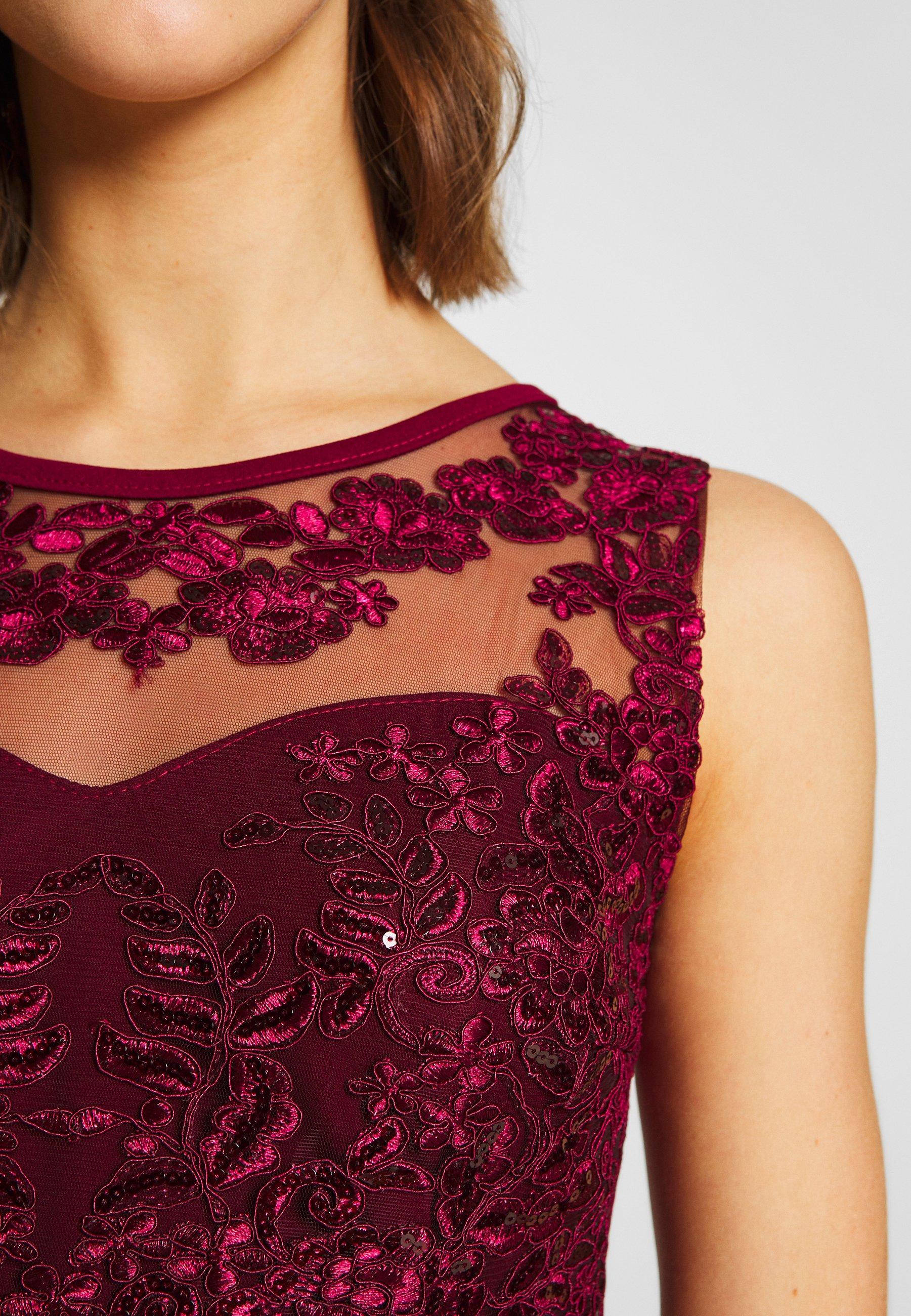 Wal G. Layered Maxi Dress - Festklänning Wine