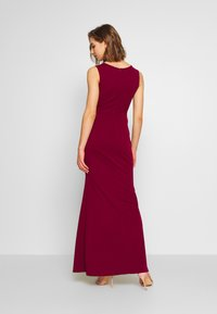 WAL G. - LAYERED MAXI DRESS - Vestido de fiesta - wine - 2