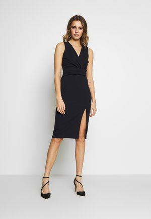 MIDI FITTED DRESS - Cocktailjurk - navy
