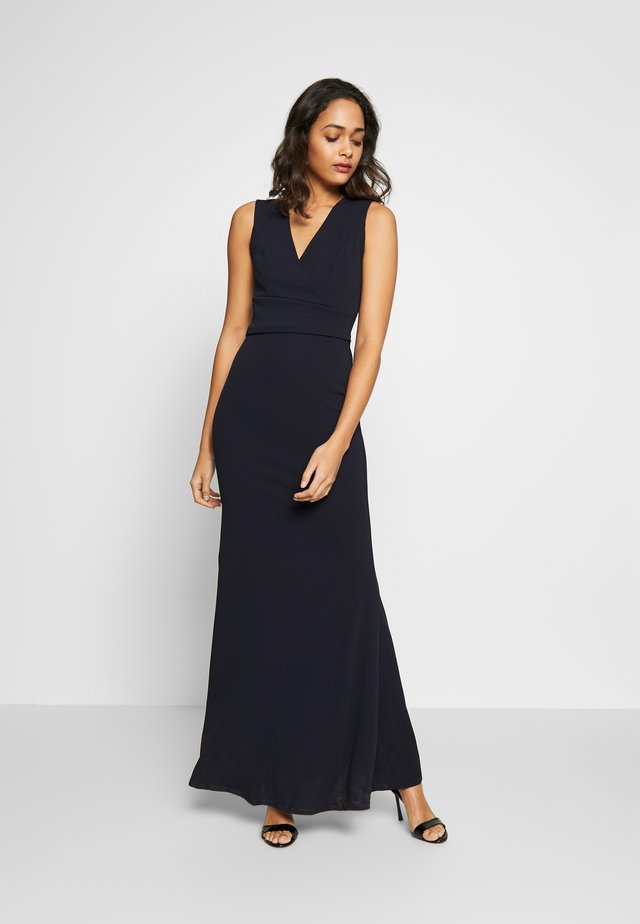 PLUNGE MAXI DRESS - Maxi-jurk - navy blue