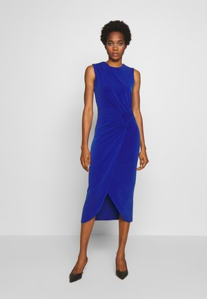 ROUCHED DETAIL MIDI DRESS - Etuikjole - cobalt blue