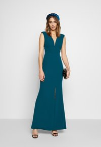 WAL G. - FITTED V KNECK MAXI - Galajurk - teal - 1