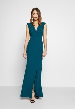 FITTED V KNECK MAXI - Galajurk - teal