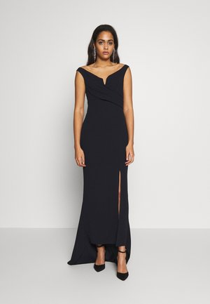 OFF THE SHOULDER MAXI DRESS - Vestido de fiesta - navy blue