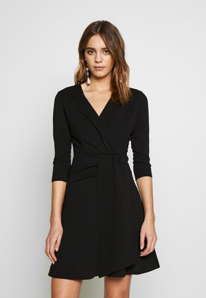 3/4 SLEEVE SKATER DRESS - Jerseyjurk - black