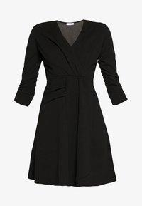 WAL G. - 3/4 SLEEVE SKATER DRESS - Jersey dress - black - 4