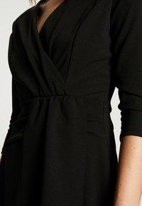 WAL G. - 3/4 SLEEVE SKATER DRESS - Jersey dress - black - 5