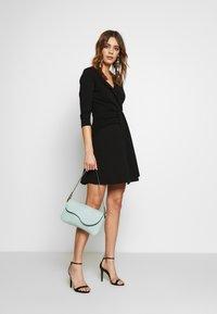 WAL G. - 3/4 SLEEVE SKATER DRESS - Jersey dress - black - 1