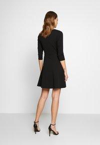 WAL G. - 3/4 SLEEVE SKATER DRESS - Jersey dress - black - 2