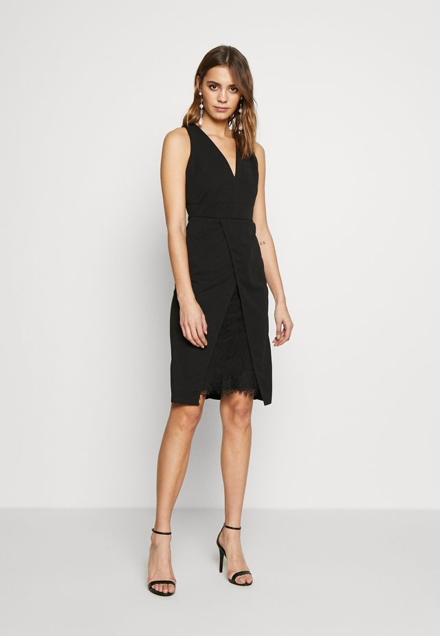 MIDI DRESS - Vestido de tubo - black