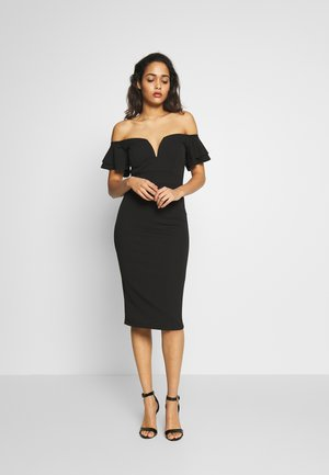 OFF THE SHOULDER DRESS - Cocktailklänning - black