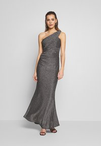 WAL G. - RUCHED ONE SHOULDER DRESS - Vestido de fiesta - silver - 0