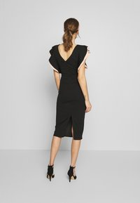 WAL G. - MIDI DRESS - Cocktail dress / Party dress - black/salmon - 2
