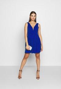 WAL G. - PLEATED SKATER DRESS - Jerseykleid - cobalt blue - 1