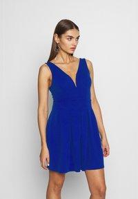WAL G. - PLEATED SKATER DRESS - Jerseykleid - cobalt blue - 0