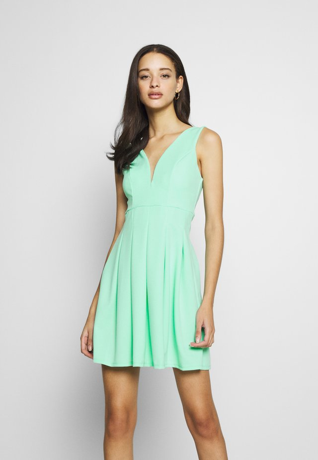 PLEATED SKATER DRESS - Jerseyjurk - neo mint