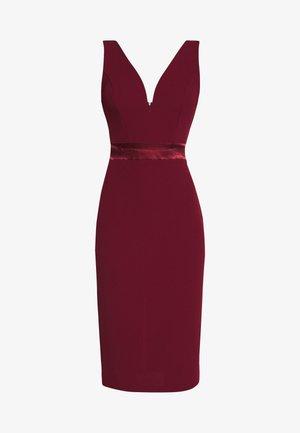 TIE DETAIL MIDI DRESS - Koktejlové šaty/ šaty na párty - wine