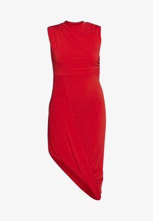 HIGH NECK MIDI DRESS - Cocktailklänning - red
