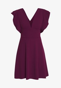 WAL G. - RUFFLE SLEEVE MINI DRESS - Cocktail dress / Party dress - plum - 3