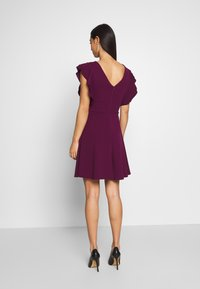 WAL G. - RUFFLE SLEEVE MINI DRESS - Cocktail dress / Party dress - plum - 0
