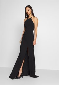 WAL G. - HALTER NECK MAXI DRESS - Abito da sera - black - 1