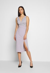 WAL G. - MIDI DRES - Shift dress - lilac - 0