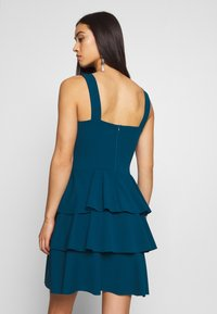 WAL G. - LAYERED MINI DRES - Cocktail dress / Party dress - teal blue - 2
