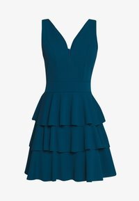 WAL G. - LAYERED MINI DRES - Cocktail dress / Party dress - teal blue - 4