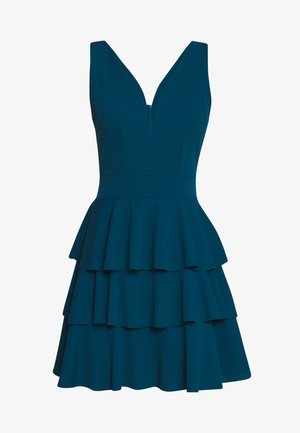 LAYERED MINI DRES - Cocktailjurk - teal blue