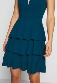 WAL G. - LAYERED MINI DRES - Cocktail dress / Party dress - teal blue - 5