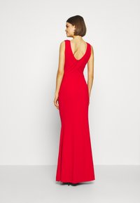 WAL G. - COWELL NECK MAXI DRESS WITH SLIT - Suknia balowa - red - 3