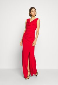 WAL G. - COWELL NECK MAXI DRESS WITH SLIT - Suknia balowa - red - 2