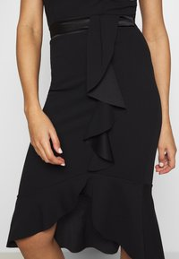 WAL G. - V NECK RUFFLE MIDI DRESS - Vestito elegante - black - 5