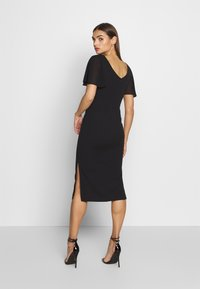 WAL G. - FLUTTER CAP SLEEVE MIDI DRESS - Cocktail dress / Party dress - black - 2